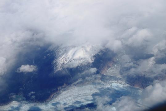 glacial desde avion